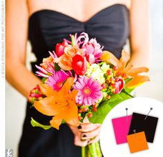 pink and orange wedding - Google Search