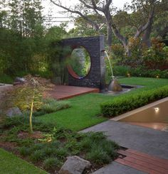 Contemporary Water Feature Modern Wall Fountain