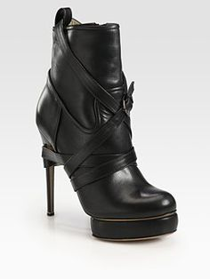 Nicholas Kirkwood  Leather Buckle Ankle Boots  $1130.00