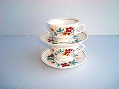Vintage USSR Tea cup with saucer Set