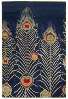 Matthew Williamson peacock rug!!!!!!!!!!! For the Rug Company.