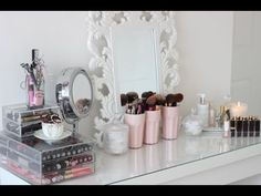 Room Tour, Malm Dressing Table and Make Up Collection - YouTube