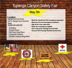 Topanga Canyon Safety Fair May Twitter Website, Topanga Canyon, Community Housing, Pinterest Website, Emergency Supplies, Class Activities, Survival Guide, Safety, Survival Guide Book