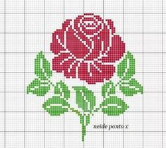 56 Ideas For Embroidery Rose Punto Croce Rose Embroidery, Cross Stitch Embroidery, Embroidery Patterns, Stitch Patterns, Border Embroidery, Loom Patterns, Cross Stitch Letters, Cross Stitch Rose, Cross Stitch Flowers