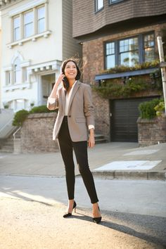 Denim at Work Corporate Attire Women, Corporate Outfits, Women's Corporate Fashion, Office Attire Women, Corporate Chic, Fashion Mode, Work Fashion, Fashion Stores, Business Outfits Women