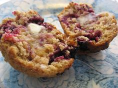 These are so easy and a great way to use up bananas and blackberries when in season but can use any berries.