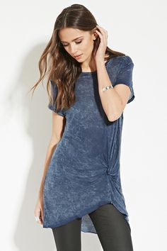 Contemporary Twisted-Front Tee