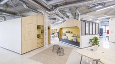 studio banana have worked alongside mccann worldgroup madrid to create a radically collaborative workspace as part of the company's 'vision Office Interior Design, Office Interiors, Startup Office, Tiny House Loft, Relax, Compact Living, Yanko Design, Small Places, Space Architecture