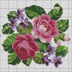 Schemi gratis punto croce. Rose di Maggio per le vostre creazioni.