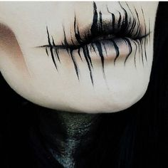 Lidschatten: Dunkle Materie + The Rust s … - Halloween Make-up Horror Make-up, Creepy Horror, Creepy Makeup, Demon Makeup, Zombie Makeup, Sfx Makeup, Ghost Makeup, Skull Makeup, Airbrush Makeup