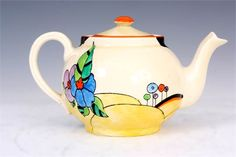 Clarice Cliff 'Woodland' Globe Teapot, 18cm wide