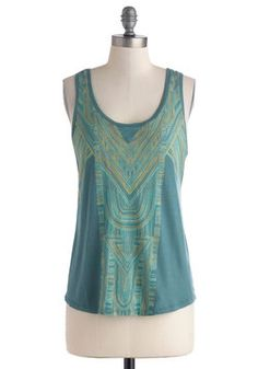 A more modern take on art deco. Mosaic the Best of Things Top, #ModCloth $39.99
