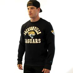 New Era Official NFL Supporters Jacksonville Jaguars Crew Sweater- Black  #newera #nfl #oaklandraiders #wembelystadium #xspirit #xspiritfashion #xspiritstore #americanfootball #mensfashion #mensamericanfootball #miamidolphins #jacksonville #jaguars #washingtonredskins #sanfrancisco49ers #49ers detroit #detroitlions #newenglandpatriots