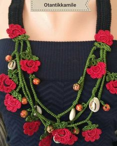 Order by WhatsApp no: Possibility of payment at the door with freight car . Love Crochet, Irish Crochet, Crochet Motif, Crochet Designs, Crochet Flowers, Knit Crochet, Funky Jewelry, Handmade Beaded Jewelry, Jewelry Crafts