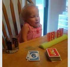 Use a pool noodle for card games