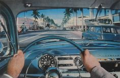 1950s vintage Chevrolet interior