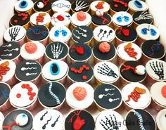 graduation cake for a biologist | Biology Cupcakes! | Happy Cake Studio