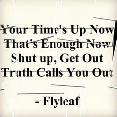 I feel like I need a little of this... :: Call You Out - Flyleaf
