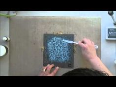 *Pushing The Right Buttons - Colouring Embossing Paste - YouTube