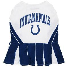 Indianapolis Colts NFL Dog Cheerleader Outfit - Extra Small