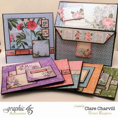 Time to Flourish Box of Cards Clare Charvill Graphic 45