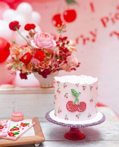Hello Kitty, Fun Party Themes, Cherry Kitchen, Pink Palette, Cherry Cake, Bookmarks Kids, Valentine Party, Party Shop, Baby Fever