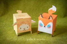 Papercraft Fox & Sheep on Behance