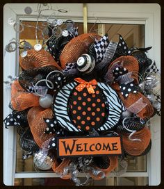 A personal favorite from my Etsy shop https://www.etsy.com/listing/243617735/whimsical-halloween-wreath-cute