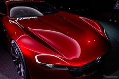 """[Detail] Mazda RX-VISION powered by SKYACTIV-R was unveiled at The 44th Tokyo Motor Show 2015 Press conference: The """"RX"""" has come back. Photo via Response.jp (http://response.jp/article/2015/10/28/262991.html) #MAZDA"""