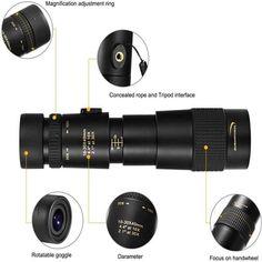 4K 300X Zoom Super Telephoto Monocular Telescope - JustNovo Super Telephoto Lens, Iphone, Astronomical Telescope, Smartphone, Thin Film, Luxury Packaging, Luminous Flux, Plus 8, Best Gifts For Men