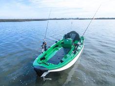 Best Fishing Kayak, Going Fishing, Fishing Pontoon, Bass Fishing, Small Fishing Boats, Small Boats, Two Man Kayak, Motorized Kayak, Kayak Trolling Motor