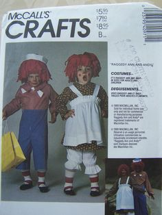 Adult Costume Child's Costume  Raggedy Ann and by WitsEndDesign, $5.00