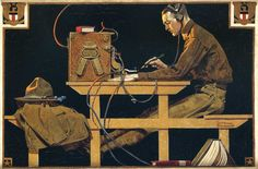 """""""The US Army Trades"""" by Norman Rockwell, Date: 1919 ・ Style: Regionalism ・ Genre: genre painting"""
