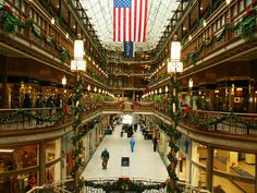 The Cleveland Arcade - downtown Cleveland.,