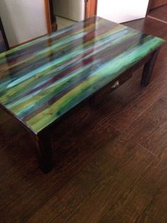 I saved this table from the landfill and I am so glad I did! It's GORGEOUS now! And so easy to do! First I sanded it down…