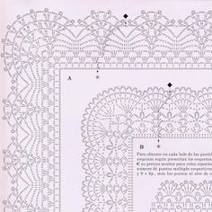 Crochet Bolero with Pineapple Edge Crochet Border Patterns, Crochet Collar Pattern, Crochet Boarders, Crochet Bedspread Pattern, Crochet Blanket Edging, Crochet Lace Edging, Crochet Motifs, Crochet Diagram, Crochet Designs