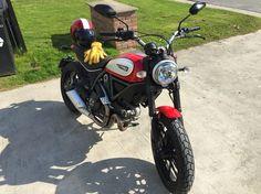 Ducati Scrambler Icon Rosso Biltwell Bonanza Le Racer Deere Skin Gloves