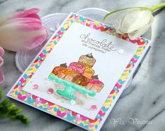 Chocolate card by Yes, Virginia! Love & Chocolate stamp set by Newton's Nook Designs #newtonsnook