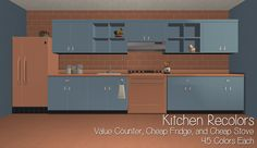 TS2 | Value Counter, Cheap Fridge & Cheap Stove Recolors #iCad