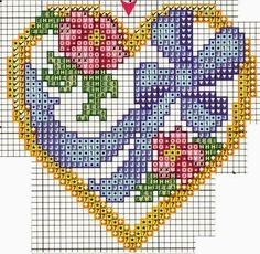 Flower heart perler bead pattern