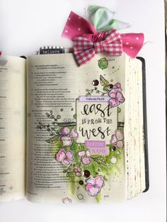 psalm 103 bible journaling | east from the west