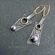 Strukova Elena - the author's jewelry - earrings with pearls