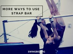 I wanted to share a few videos today of things you may or may not be doing right now on strap bar. As we head into off season strap bar can be a huge asset. Gym Bar, Gymnastics Coaching, Coach Me, Get Moving, Teaching, Drills, Rocks, Mini, Gymnastics