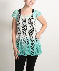 Look what I found on #zulily! Mint Crochet Tunic - Plus #zulilyfinds