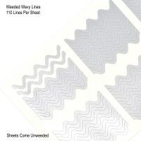 KB Shimmer -- Wavy Lines Vinyl Nail Decals