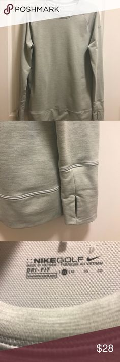 Women's Nike Golf Pullover Women's Nike Golf Dri-Fit Pullover. Light grey. Size XL. In excellent condition, like new! :) Nike Tops Sweatshirts & Hoodies