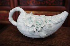 Eine einzigartige Weinlese-chinesisches Porzellan Tea Pot Light Green Jade Farbe  Von United States
