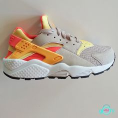 pink and yellow huaraches
