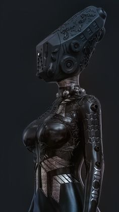 She said I'm a robot Female Cyborg, Alien Concept Art, Cyberpunk Character, Iphone Wallpaper Tumblr Aesthetic, Arte Horror, Sci Fi Characters, Black Girl Art, Human Art, Dark Fantasy Art