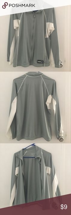 Gray Duckskinz Zip Jacket - Rash Guard Only worn twice, still in great condition. Size S and made in Thailand! 27% rayon from bamboo, 63% polyster, 10% spandex duckskinz Jackets & Coats